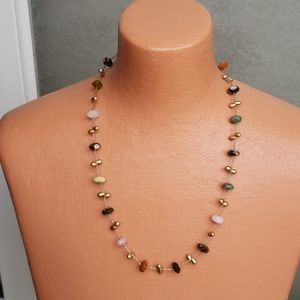 Stone and beaded necklace